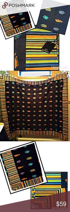 Jim Thompson Sarong or wrap Beautiful and fun Jim Thompson Pareo Pr Cotton , 100% Cotton, 52 X 60.  Can be used as sarong or wrap Jim Thompsom Swim Sarongs
