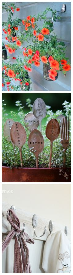 Repurpose Old Silverware Around Your House - Hooks and Garden Markers #DIY #vintage #upcycle
