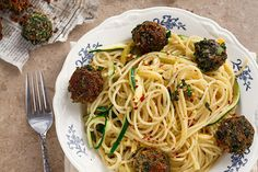 Meatless Mondays: Spaghetti and Crispy Fried Spinach Parmesan Balls