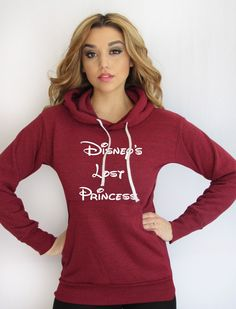 Disney's Lost Princess Light Weight Hoodie Made by THINK ELITE Style and comfort are the perfect words to describe this unbelievably cute hoodie. The light knit gives it an incredibly soft hand that d