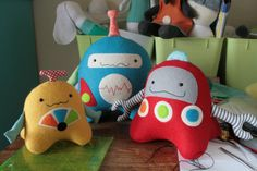 Stacks On Robots : 3 robots sewing pattern by ricracsews on Etsy