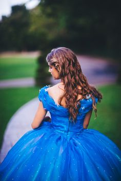 Items similar to Cinderella Disney Dress - Costume / Cosplay Gown - 2015 Live Action Movie - Womens - Custom Size on Etsy Cinderella Blue Dress, Cinderella Ballgown, Cinderella Cosplay, Cinderella Disney, Disney Princess Dresses, Princess Ball Gowns, Disney Dresses, Costume Dress, Girl Photography