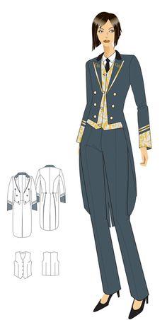 doorman uniform woman - Google Search