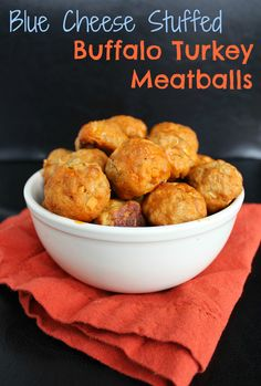 Blue Cheese Stuffed Buffalo Turkey Meatballs
