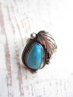 Signed Native American Ring by momentofnostalgia on Etsy, $28.00