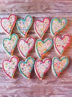 Cool Valentine's cookies: Splatter paint heart cookies from Sweet C Bake Shop on Etsy