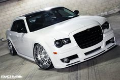 White Chrysler 300C with black accents