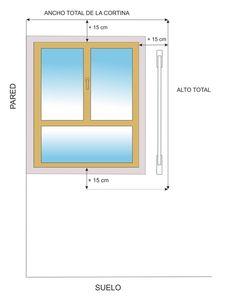 medidas para poner cortinas - Buscar con Google