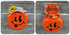 A Creative Princess: Tide Container to Pumpkin Candy Dish