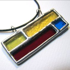 Brick by Brick - Stained Glass Pendant