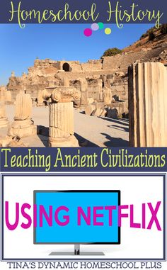 Homeschool History Teaching Ancient Civilizations Using Netflix. Bring history alive by using an educational movie or two using Netflix. History For Kids, Study History, History Education, Mystery Of History, Teaching History, Classical Education, History Classroom, Student Teaching, History Books