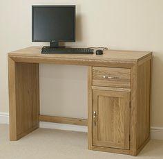 Bevel Solid Oak Computer Desk  £269.76