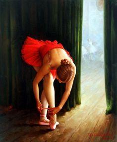 Ballerina 2 Painting by Yoo Choong Yeul ~ ballet