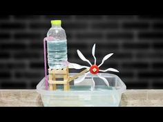 DIY water turbine without electricity School Science Projects, Science Crafts, Stem Projects, Science Experiments Kids, Science For Kids, Activities For Kids, Diy For Kids, Crafts For Kids, Water Turbine
