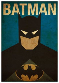Vintage Minimalist Poster A3 Prints by MyGeekPosters on Etsy batman