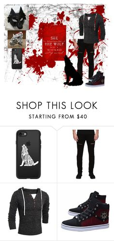 """""""Fashionable Fables: Big Bad Wolf"""" by makennadelaneypowell on Polyvore featuring Casetify, Rustic Dime, men's fashion and menswear"""