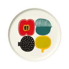 Heal's | Marimekko Kompotti Round Plate - Decorated Dinnerware - Tableware - Dining Room