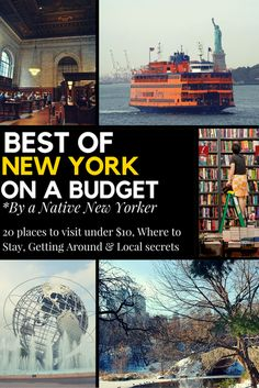 Best of New York On a Budget By a Native New Yorker @ Wanderlustingk. Written for anyone visiting NYC on a budget, including my favorite 20 Places All Under $10, accomodation Advice & getting to/around NY. Written to show you NYC through my eyes and get out off-the-beaten path!