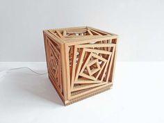 Lampada di cartone fai da te - spenta #diycandlebox (diy candle box)