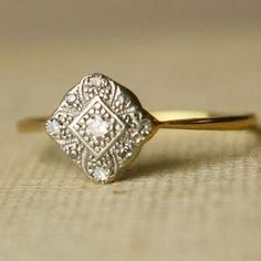 vintage engagement rings! by cara