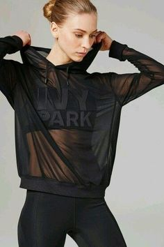 Clothes For Gym Sheer Mesh Hoodie by Ivy Park - The gym is one of the places where people can not care about their appearance and concentrate only on working their body to show it later. However there are items that help us exercise much more efficiently. Sport Fashion, Fitness Fashion, Womens Fashion, Fall Fashion, Latest Fashion, Fashion Trends, Womens Workout Outfits, Sport Outfits, Fitness Outfits