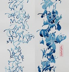 A Conversation with Argentinian Calligrapher and Artist Marina Soria Typography, Lettering, Letter Art, Mark Making, Mail Art, Textile Art, Book Art, Watercolor Paintings, Calligraphy