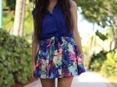 navy blue floral print