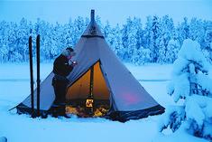 Herder's tent in Lappland