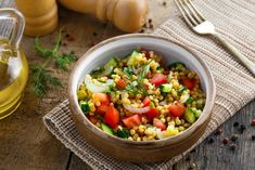 Israeli Couscous with Carrots, Peas, and Red Wine Vinegar Lunch Recipes, Healthy Dinner Recipes, Beef Recipes, Soup Recipes, Healthy Snacks, Salad Recipes, Plant Based Diet, Plant Based Recipes, Enchiladas