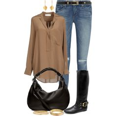 """""""Casual Late Summer Brown"""" by angela-windsor on Polyvore"""