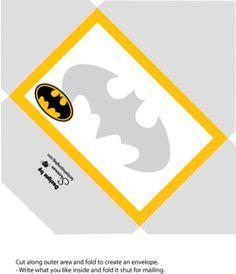 Envelope, Batman, Invitations - Free Printable Ideas from Family Shoppingbag.com