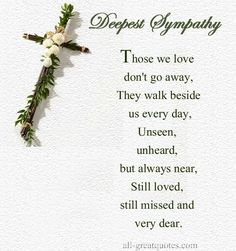 Deepest Sympathy Quotes Loved Ones - Bing Images