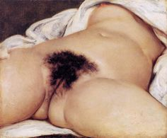 L'origine du monde (1866) // Gustave Courbet // Réalisme (opposé au Romantisme) // Rupture avec la peinture académique, ne plus faire référence au passé // Montrer la réalisté dans ce qu'elle a de plus banal et immédiat // Préservation technique classique
