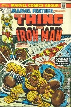 MARVEL FEATURE 12, THE THING AND IRON MAN, BRONZE AGE MARVEL COMICS