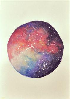 Galaxy watercolor 2 by Ageshio
