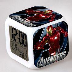Iron man Classic Movie Around LED Alarm Clock despertador Digital Clock Led Alarm Clock, Gifts For Boys, Digital Alarm Clock, Classic, Iron Man, Movie, Derby, Iron Men, Film