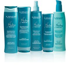 my fave Lanza line.  smells delish, fills the hair with healing moisture