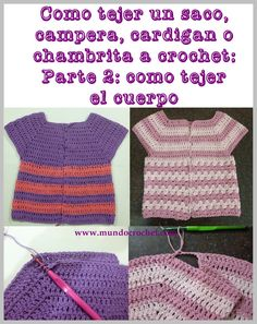 As knitting a bag, jacket, cardigan or crochet or crochet chambrita from canesu24