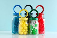 Colorful display for your Olympic-themed party.