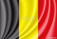 Vector: vector waving flag of Belgium