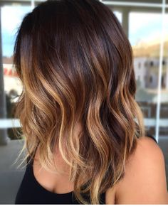 cool 65 Phenomenal Dark Hair with Highlights - Flattering Streaks for Your Dark Mane Check more at http://newaylook.com/best-dark-hair-with-highlights-ideas/