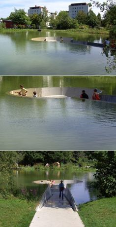 Is This The Coolest Water Feature Ever Water Architecture, Landscape Architecture Design, Landscape Designs, Architecture Models, Architecture Visualization, Architecture Student, Classical Architecture, Ancient Architecture, Sustainable Architecture