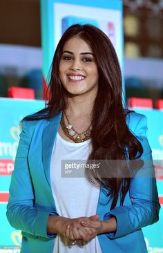 Indian Bollywood actress Genelia DSouza poses at a promotional event in Mumbai on February Get premium, high resolution news photos at Getty Images Indian Bollywood Actress, Tamil Actress, South Indian Actress, Indian Actresses, Indian Celebrities, Bollywood Celebrities, Most Beautiful Indian Actress, Beautiful Actresses, Genelia D'souza