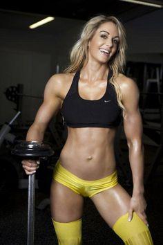 Girl in great shape.