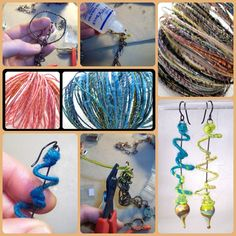 Art Jewelry Elements: WoolWire Tutorial: How to Finish the Ends