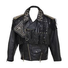 """Jean Paul Gaultier  """"LOVE HATE"""" Leather  Jacket 1987/88 """"Rock Stars"""" Collection"""