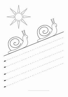 Activities for preschool children . Nursery Worksheets, Tracing Worksheets, Kindergarten Worksheets, Worksheets For Kids, Printable Worksheets, Preschool Writing, Preschool Learning Activities, Kids Learning, Pre Writing