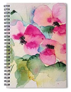 "This 6"" x 8"" spiral notebook features the artwork ""Flower Painting"" by Britta Zehm on the cover and includes 120 lined pages for your notes and greatest thoughts."