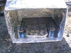 How to make a box oven...for camping pizza!