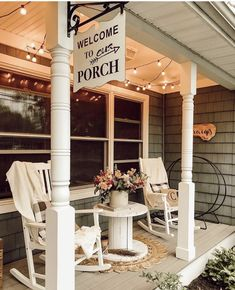 Welcome to porch! 👏 We bet a lot of sunsets are watched here and all of the of July fireworks. 🎆    Yes, we can see it now with a fresh glass of iced tea. ☺️😎   TAG a friend who loves a good front porch Farmhouse Front Porches, Small Front Porches, Decks And Porches, Country Porches, Country Porch Decor, Country Western Decor, Summer Front Porches, Southern Porches, Summer Porch
